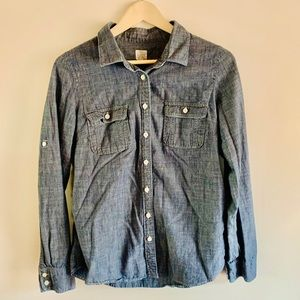 J. Crew The Perfect Shirt Chambray Button Down M
